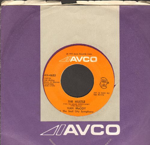 McCoy, Van - The Hustle/Hey Girl Come And Get It (MINT condition with Avco company sleeve) - M10/ - 45 rpm Records