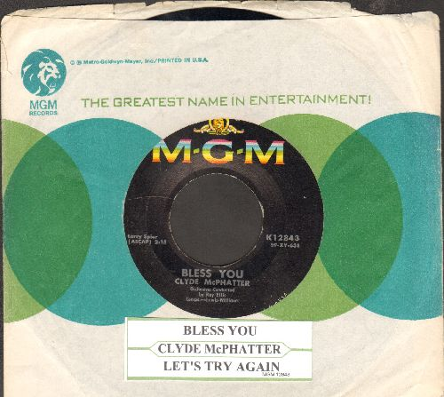 McPhatter, Clyde - Bless You/Let's Try Again (with juke box label and MGM company sleeve) - NM9/ - 45 rpm Records