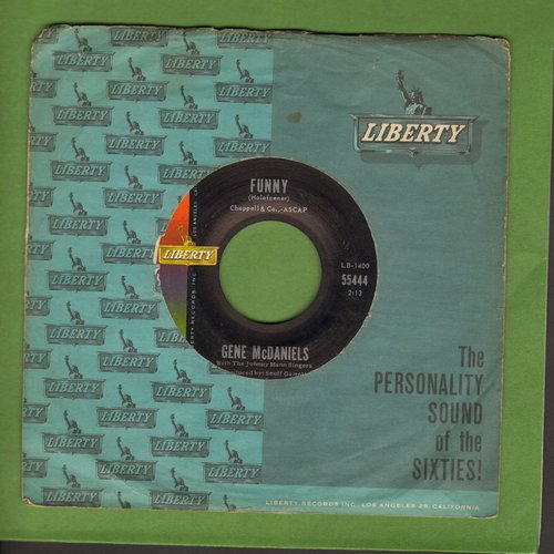 McDaniels, Gene - Funny/Chapel Of Tears (with Liberty company sleeve) - NM9/ - 45 rpm Records