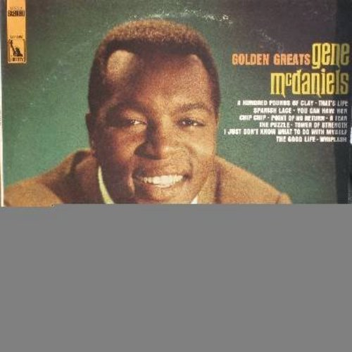 McDaniels, Gene - Golden Greats: A Hundred Pounds Of Clay, Chip Chip, Tower Of Strength, Point Of No Return, A Tear (Vinyl STEREO LP record) - VG7/EX8 - LP Records
