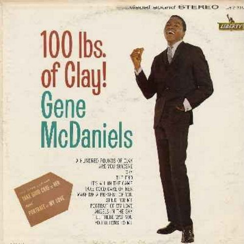 McDaniels, Gene - 100 Lbs. Of Clay!: Cry, It's All In The Game, Angels In The Sky, Till There Was You, You Belong To Me, The End (Vinyl STEREO LP record) - NM9/VG7 - LP Records