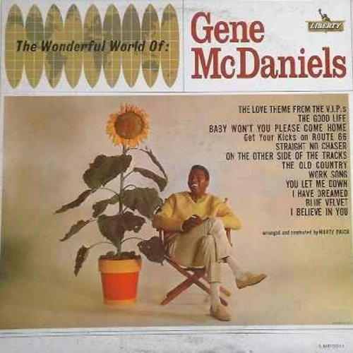 McDaniels, Gene - The Wonderful World Of Gene McDaniels: Blue Velvet, (Get Your Kicks On) Route 66, Straight No Chaser, The Good Life, The Love Theme From The V.I.P.'s, Baby Won't You Please Come Home (Vinyl LP record) - NM9/VG7 - LP Records