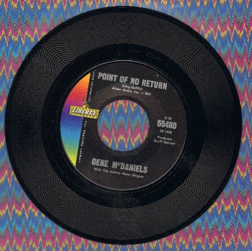McDaniels, Gene - Point Of No Return/Warmer Than A Whisper (MINT condition!) - M10/ - 45 rpm Records
