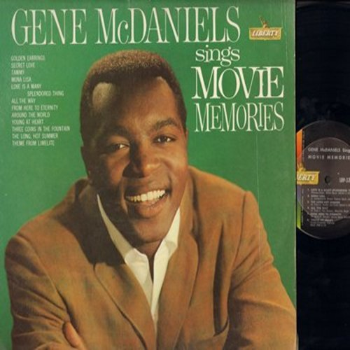 McDaniels, Gene - Movie Memories: Secret Love, Tammy, Mona Lisa, Love Is A Many-Splendored Thing, Three Coins In A Fountain, The Long Hot Summer (Vinyl MONO LP record) - NM9/EX8 - LP Records
