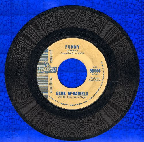 McDaniels, Gene - Funny/Chapel Of Tears (DJ advance pressing) - EX8/ - 45 rpm Records