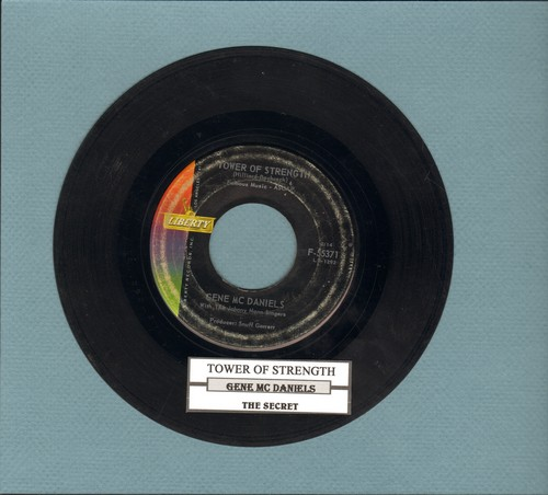 McDaniels, Gene - Tower Of Strength/The Secret (with juke box label) - VG7/ - 45 rpm Records