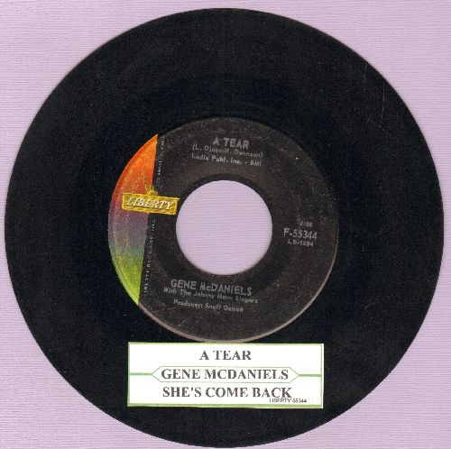 McDaniels, Gene - A Tear/She's Come Back (with juke box label) - EX8/ - 45 rpm Records