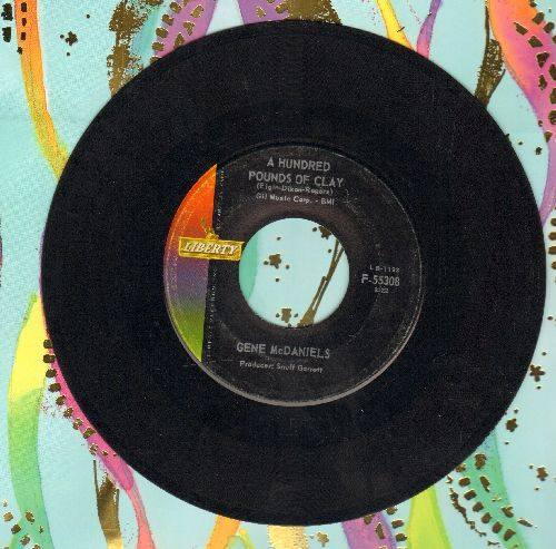 McDaniels, Gene - A Hundred Pounds Of Clay/Take A Chance On Love - EX8/ - 45 rpm Records
