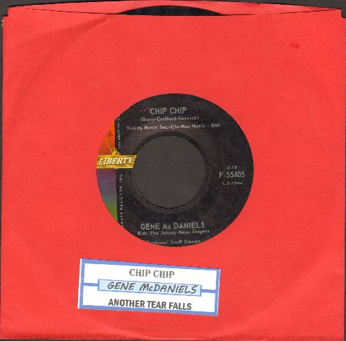 McDaniels, Gene - Chip Chip/Another Tear Falls (with juke box label) - EX8/ - 45 rpm Records