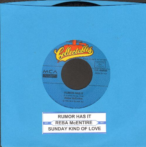 McEntire, Reba - Rumor Has It/Sunday Kind Of Love (double-hit re-issue with juke box label) - NM9/ - 45 rpm Records