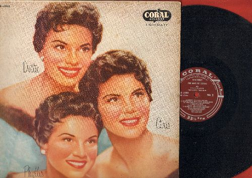 McGuire Sisters - Sincerely: Endless, Something's Gotta Give, Picnic, Muskrat Ramble, Goodnight Sweetheart Goodnight (Vinyl MONO LP record, burgundy label 1956 first issue) - EX8/EX8 - LP Records