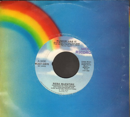 McEntire, Reba - Rumor Has It/You Remember Me (with MCA company sleeve) - EX8/ - 45 rpm Records
