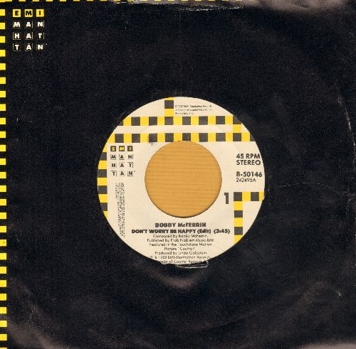 McFerrin, Bobby - Don't Worry Be Happy/Simple Pleasures (with EMI company sleeve) - EX8/ - 45 rpm Records