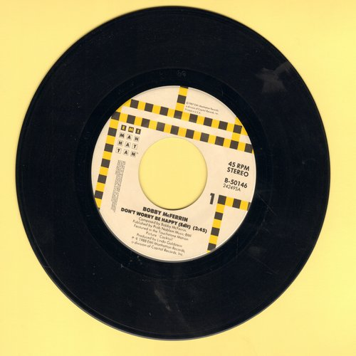 McFerrin, Bobby - Don't Worry Be Happy/Simple Pleasures (with juke box label) - NM9/ - 45 rpm Records