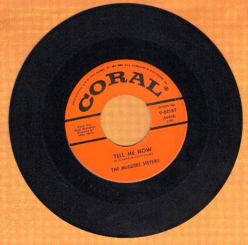 McGuire Sisters - Tell Me Now/Missing - NM9/ - 45 rpm Records
