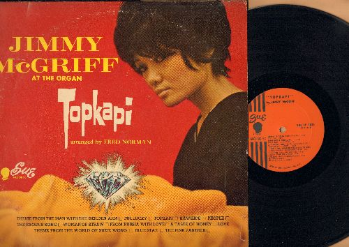 McGriff, Jimmy - Topkapi: Theme From The Man With The Golden Arm, Rawhide, The Pink Panther, People, The Exodus Song (Vinyl MONO LP record) - EX8/VG6 - LP Records