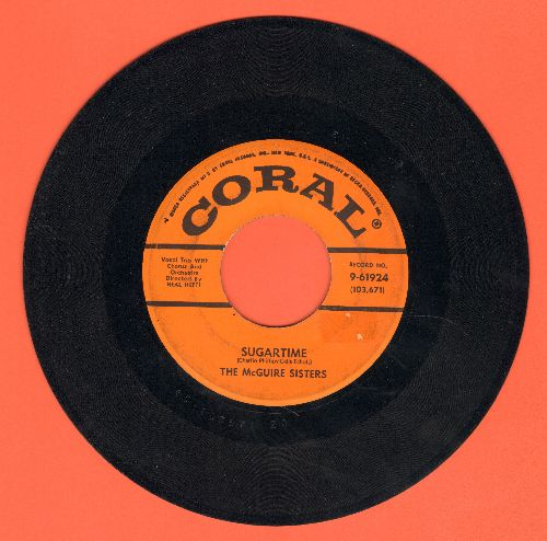 McGuire Sisters - Sugartime/Banana Split  - VG7/ - 45 rpm Records