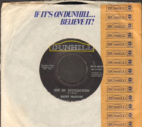 McGuire, Barry - Eve Of Destruction/What Exactly's The Matter With Me (with company sleeve) - EX8/ - 45 rpm Records