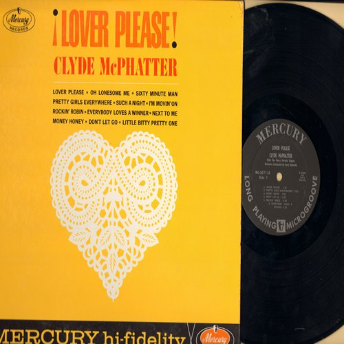 McPhatter, Clyde - Lover Please: Sixty Minute Man, Rockin' Robin, Money Honey, Little Bitty Pretty One (Vinyl MONO LP record) - EX8/VG7 - LP Records