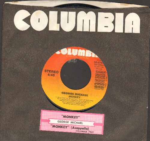 Michael, George - Monkey/Monkey (Acappella) (with juke box label and Columbia company sleeve) - NM9/ - 45 rpm Records