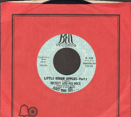 Mickey & His Mice - Little Green Apples (Parts 1 + 2) (DJ advance pressing with Bell company sleeve) - NM9/ - 45 rpm Records