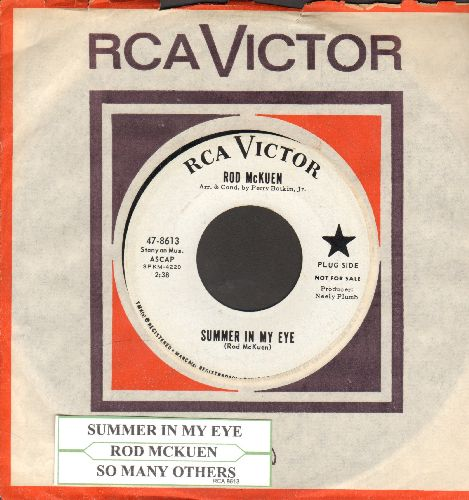 McKuen, Rod - Summer In My Eye/So Many Others (DJ advance pressing with vintage RCA company sleeve and juke box label) - NM9/ - 45 rpm Records