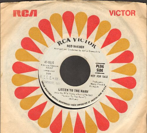 McKuen, Rod - Listen To The Warm/A Cat Named Sloopy (DJ advance pressing with vintage RCA company sleeve) - EX8/ - 45 rpm Records