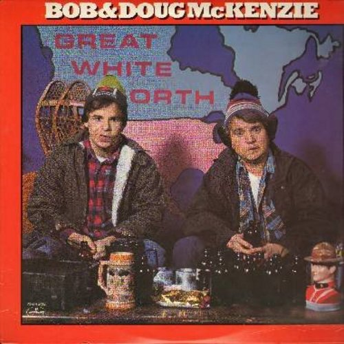 McKenzie, Bob & Doug - The Great White North - Vintage 1981 US first issue of comedy routines made popular on -SCTV-, includes the comedy hit -Take Off!- (Vinyl STEREO LP record) - EX8/VG7 - LP Records