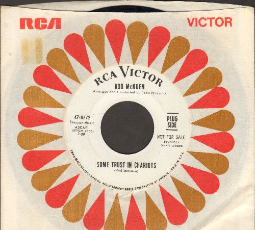 McKuen, Rod - Some Trust In Chariots/So Long San Francisco (DJ advance pressing with RCA company sleeve) - M10/ - 45 rpm Records