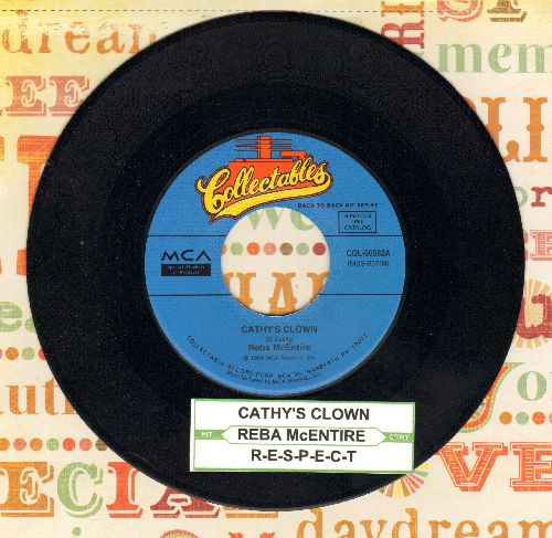McEntire, Reba - Respect (FANTASTIC updated Country version of Otis Redding Hit!)/Cathy's Clown (double-hit re-issue with juke box label) - M10/ - 45 rpm Records