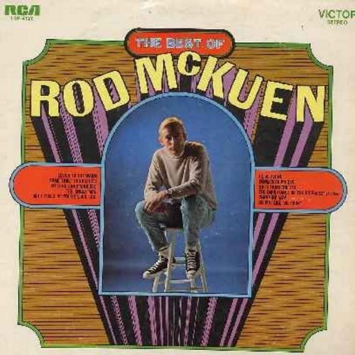 McKuen, Rod - Best Of: So Long San Francisco, Do You Like The Rain?, I Live Alone, Summer In My Eye, The Importance Of The Rose (Vinyl STEREO LP record) - M10/EX8 - LP Records