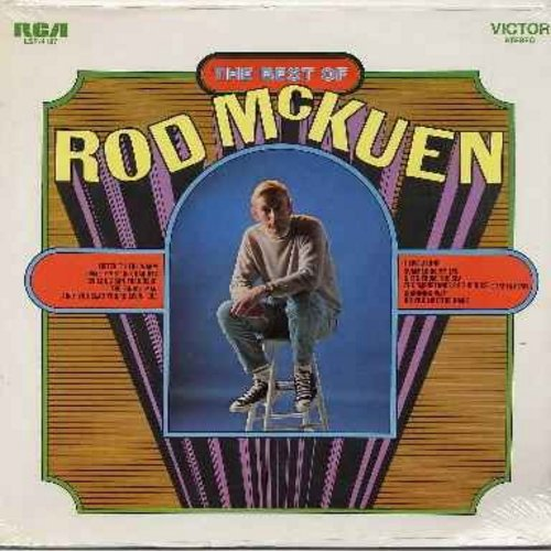 McKuen, Rod - Best Of: So Long San Francisco, Do You Like The Rain?, I Live Alone, Summer In My Eye, The Importance Of The Rose (Vinyl STEREO LP record, SEALED, never opened! - SEALED/SEALED - LP Records