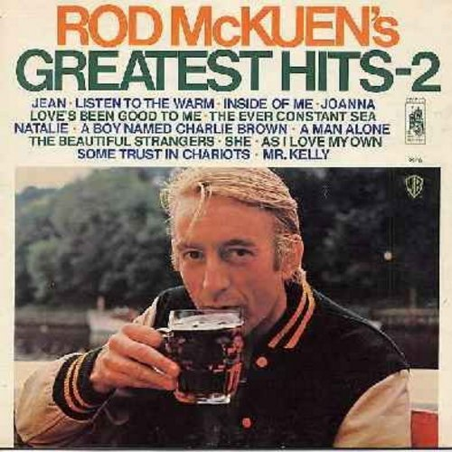 McKuen, Rod - Greatest Hits - 2: Jean, Listen To The Warm, Natalie, A Boy Named Charlie Brown, She, Love's Been Good To Me (Vinyl STEREO LP record, gate-fold cover) - EX8/EX8 - LP Records