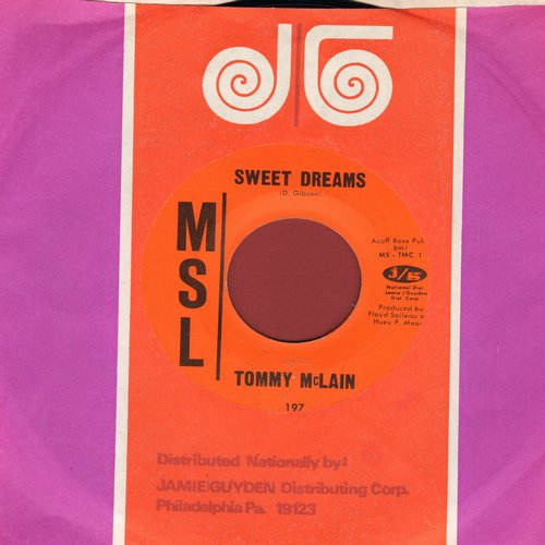 McLain, Tommy - Sweet Dreams/I Need You So (MINT condition) - NM9/ - 45 rpm Records
