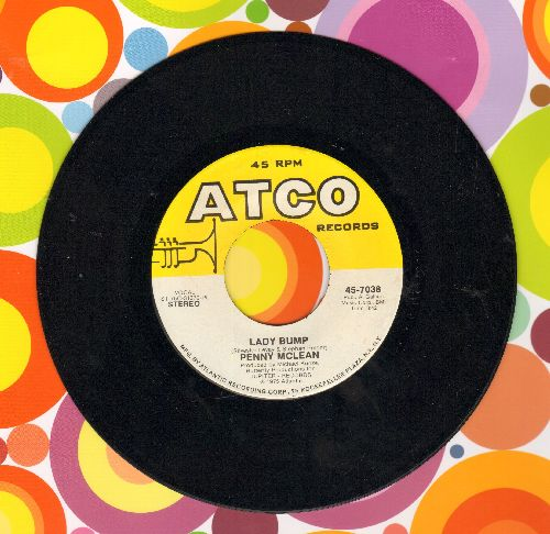 McLean, Penny - Lady Bump/The Lady Bumps On (Most successful title of various novelty records capitalizing on the 70s -Bump- Dance Craze)  - NM9/ - 45 rpm Records