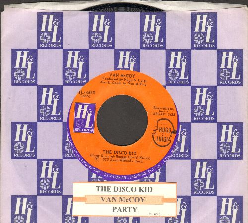 McCoy, Van - The Disco Kid/Party (with juke box label and Avco company sleeve) - NM9/ - 45 rpm Records