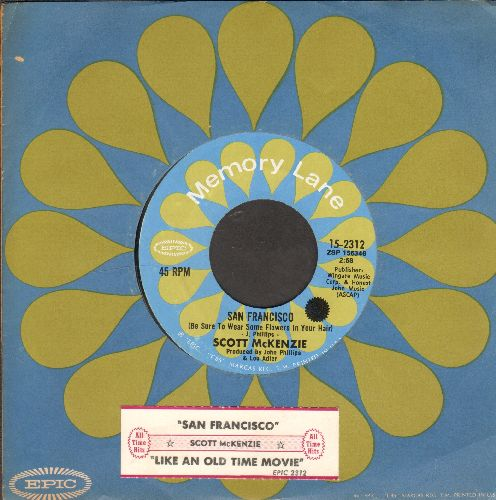 McKenzie, Scott - San Francisco/Like An Old Time Movie (double-hit re-issue with juke box label and company sleeve) - NM9/ - 45 rpm Records