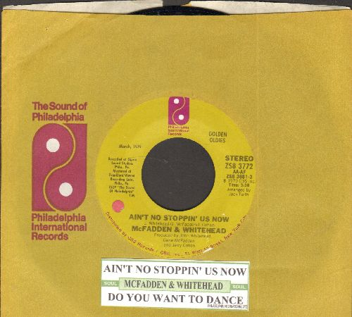 McFadden & Whitehead - Ain't No Stoppin' Us Now/I Got The Love (with juke box label and company sleeve) - NM9/ - 45 rpm Records