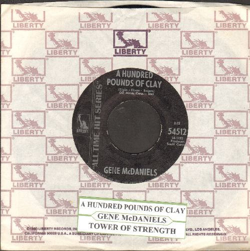 McDaniels, Gene - A Hundred Pounds Of Clay/Tower Of Strength (authentic-looking early re-issue with juke box label and Liberty company sleeve) - NM9/ - 45 rpm Records