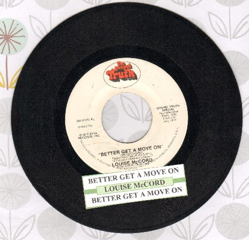 McCord, Louise - Better Get A Move On (double-A-sided DJ advance pressing with juke box label) - EX8/ - 45 rpm Records