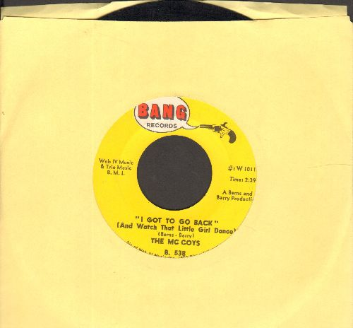 McCoys - I Got To Go Back (And Watch That Little Girl Dance)/Dynamite - EX8/ - 45 rpm Records