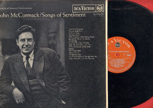 McCormack, John - Songs Of Sentiment: Dear Little Shamrock, Mother o'Mine, Any Place Is Heaven If You Are Near Me (vinyl MONO LP record, UK Red Seal Pressing) - NM9/EX8 - LP Records