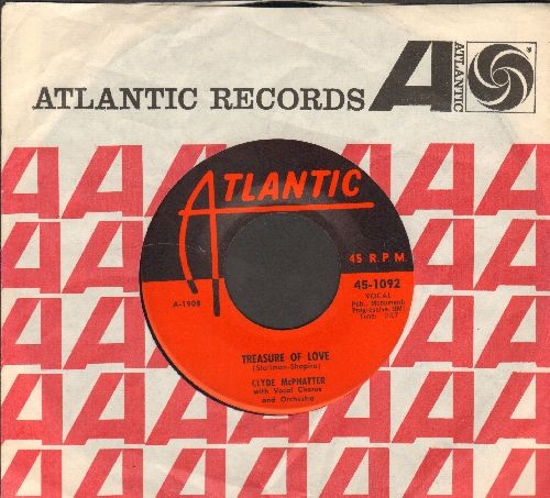 McPhatter, Clyde - Treasure Of Love/When You're Sincere (with Atlantic company sleeve) - NM9/ - 45 rpm Records