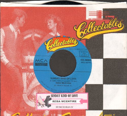 McEntire, Reba - Rumor Has It/Sunday Kind Of Love (double-hit re-issue with juke box label and company sleeve) - NM9/ - 45 rpm Records