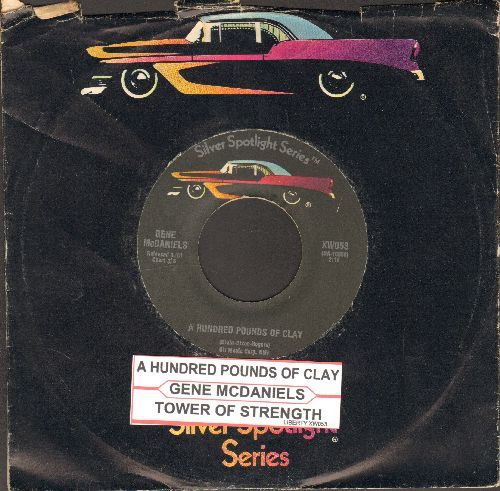 McDaniels, Gene - A Hundred Pounds Of Clay/Tower Of Strength (early re-issue with company sleeve and juke box label) (sol) - EX8/ - 45 rpm Records