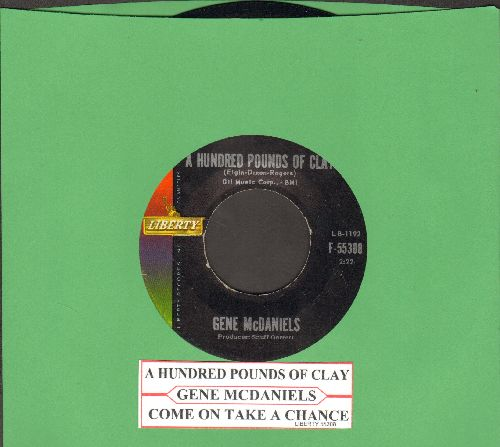 McDaniels, Gene - A Hundred Pounds Of Clay/Take A Chance On Love (with juke box label) - EX8/ - 45 rpm Records