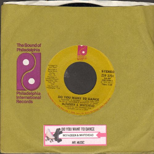 McFadden & Whitehead - Do You Want To Dance/Mr. Music (with company sleeve and juke box label) - NM9/ - 45 rpm Records