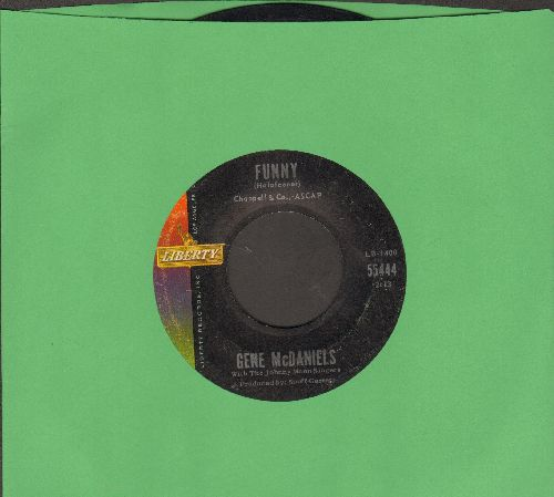 McDaniels, Gene - Funny/Chapel Of Tears - VG7/ - 45 rpm Records