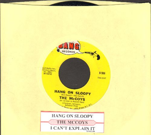 McCoys - Hang On Sloopy (PARTY FAVORITE!)/I Can't Explain It (with juke box label)(bb) - NM9/ - 45 rpm Records