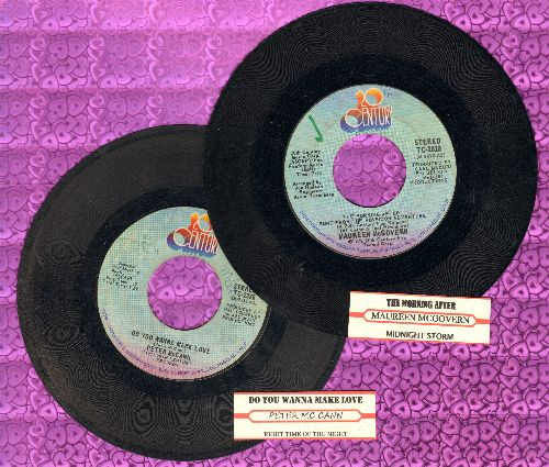 McGovern, Maureen/Peter McCann - 1970s Slow-Dances Favorites 2 for 1: The Morning After/Do You Wanna Make Love. First presings with juke box label. GREAT for a Themed Party or for a Juke Box! (shipped in plain white paper sleeves) - VG7/ - 45 rpm Records